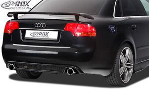 RDX-Heckeinsatz-AUDI-A4-B7-Heck-RS4-Look-Heck-Ansatz-Blende-Diffusor-Hinten