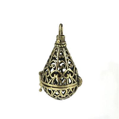 1PC Gold Star Beads Cage Locket Pendant Essential Oils Diffuser B279