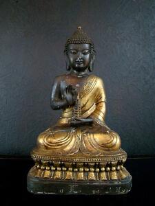 Buddha-Bronze-Tibet-Skulptur-Asiatika-44-cm