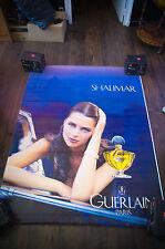 GUERLAIN SHALIMAR HEATHER STEWART 4x6 ft Shelter Original Vintage Fashion Poster
