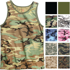 dd94113419be37 Image is loading Camo-Tank-Top-Sleeveless-Muscle-Tee-Camouflage-Tactical-