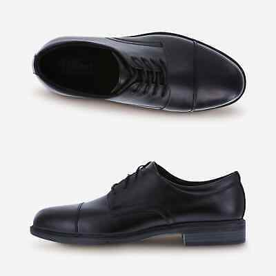 Dexter Comfort Oxford Shoes Leather Cap Toe Archer Lace Up Black New With Tags