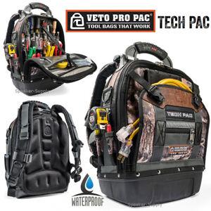 Veto Pro Pac Tech Pac Backpack Waterproof Camo Tool Storage Tech Bag ... 1735f5cc773a3