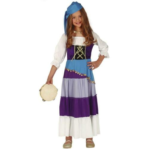 GITANE Esmeralda Enfant Costume Fancy Dress Party Outfit