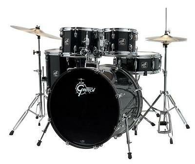 Gretsch Renegade 5 Piece Drum Set with Hardware and Cymbals (Black)