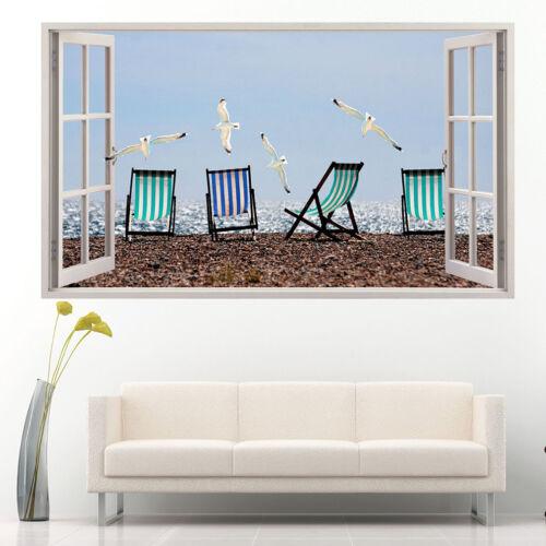 Wall Stickers Seagulls Bird Beach Seaside  Vinyl Bedroom Girls Boys Kids C939