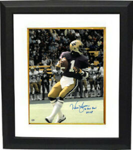 brand new f0cc8 15918 Details about Warren Moon signed Washington 16x20 Photo Framed Rose Bowl  MVP- Mill Creek Holo