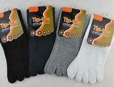 New one.Pairs MEN Color stripes five finger Toe Socks  black oo