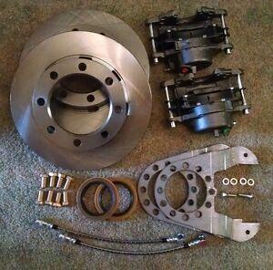 Details about 14 bolt complete disc brake conversion kit 10 5 SRW full  float ceramic stainless