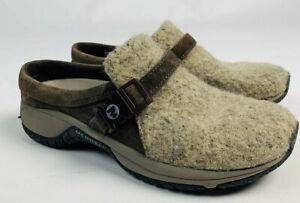 Merrell-7-5-Womens-Q-Form-Air-Cushion-Gray-Mules-Clogs-Wool