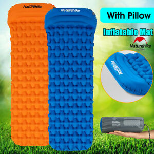 Naturehike-Inflatable-Camping-Hiking-Mattress-Air-Bed-Sleeping-Mat-Pad-w-Pillow