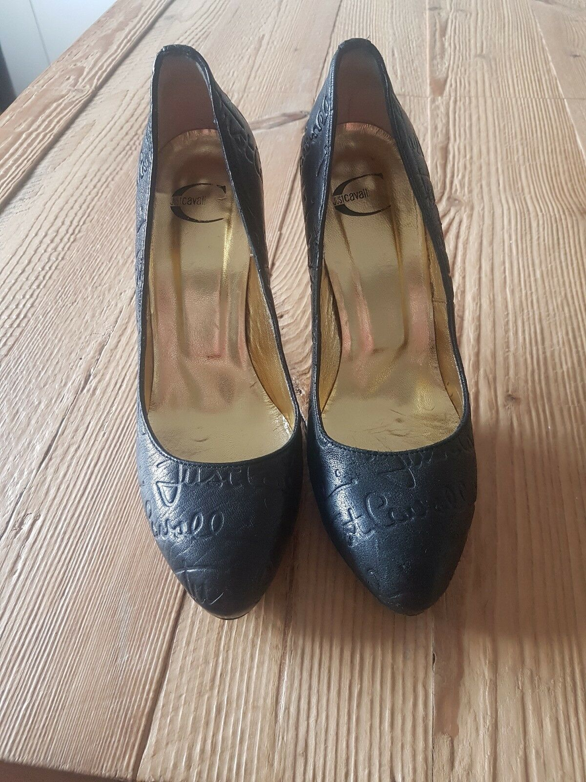 Just Cavalli black leather shoes size 5