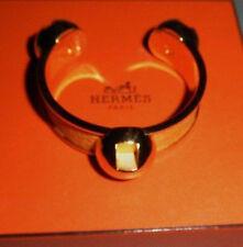 Authentic Hermes Vintage Grands H Logos Yellow Bracelet Cuff Rare~My Poupette RS