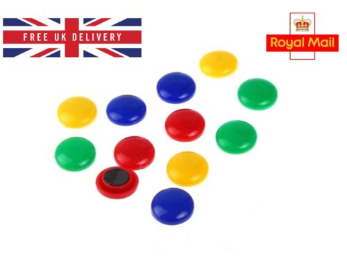 8 pcs Office Notice Board Whiteboard Colorful Round Magnets Face 30mm
