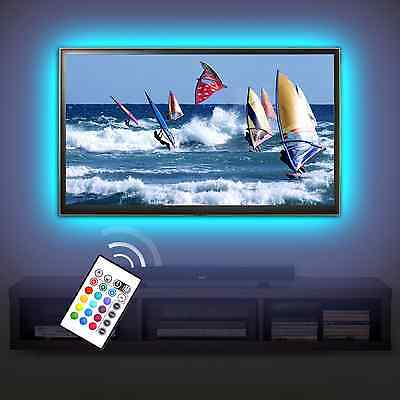 MegullaBias TV Lighting Kit Accent/Ambient TV Lighting Precut USB LED RGB Strip