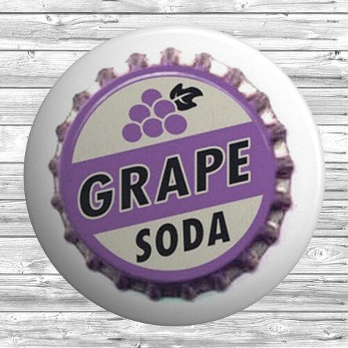 25mm Novelty Cute Grape Soda Button Badge 1 inch