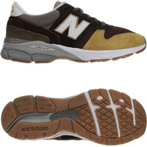 New-Balance-770-9-Made-in-UK-Jaune-Marron-Hommes-Daim-Low-top-Baskets-NEUF
