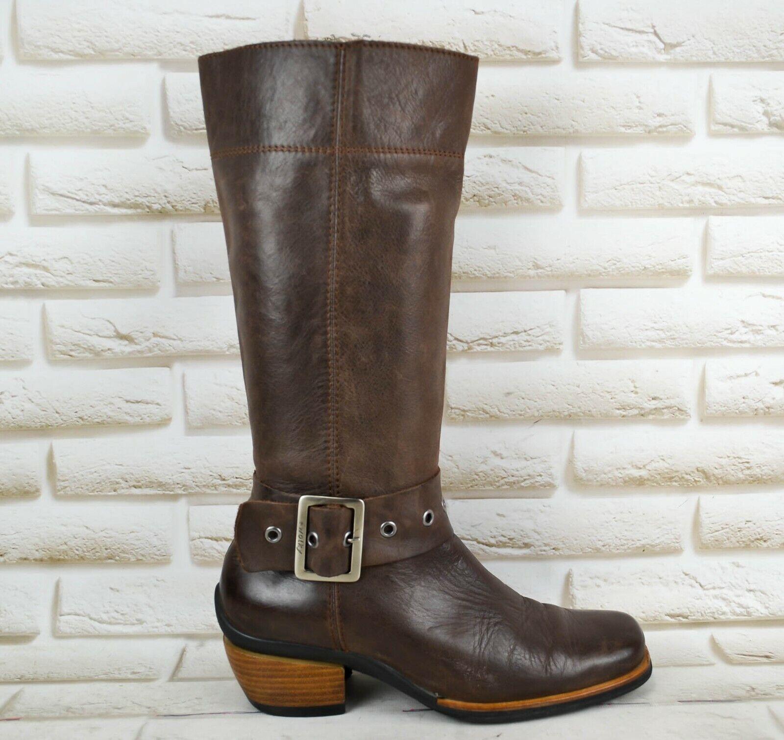 WOLKY damen braun Leather Long Knee High Heeled Stiefel schuhe Größe 5 UK 38 EU