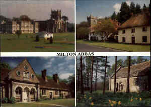 Great-Britain-Multi-View-Postcard-Milton-Abbas-Dorset-in-England-Postkarte-color
