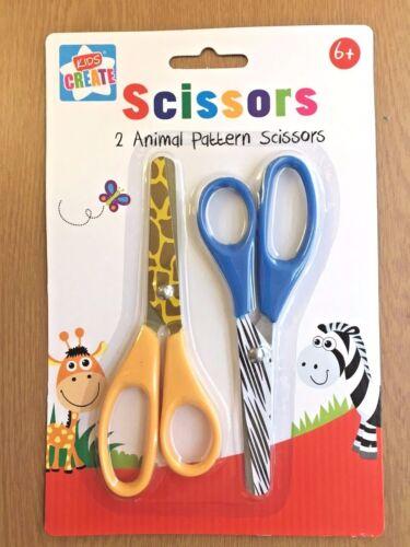 2 x Tijeras de seguridad niños patrón de los animales para niños elaboración de Tarjetas artesanal Escuela