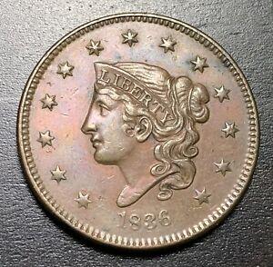 1836-Coronet-Head-Large-Cent-MAKE-US-AN-OFFER-B4255