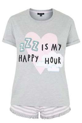 Topshop ZZZ is My Happy Hour Pyjama Set New UK 12//EU 40 RRP £22