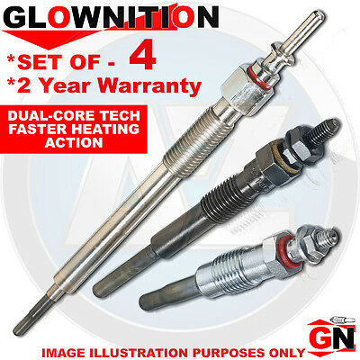 G1142 For Dodge Avenger 2.0 CRD Glownition Glow Plugs X 4