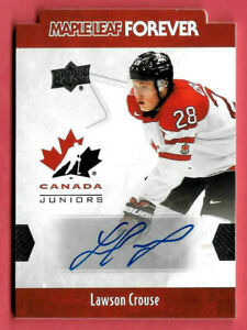 2016-17-Lawson-Crouse-Upper-Deck-Team-Canada-Juniors-Auto-Maple-Leaf-Forever