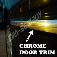 10ft Chrome Silver Diy Side Door Exterior Decoration Molding Trim D.i.y. Kit