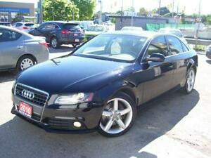 2010 Audi A4 2.0T,AWD,Leather, Sunroof, Fog lights,Certified