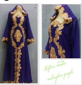 Moroccan-Dubai-abaya-Kaftan-hoodie-green-lace-maxi-dress-plus-size-maternity-Eid