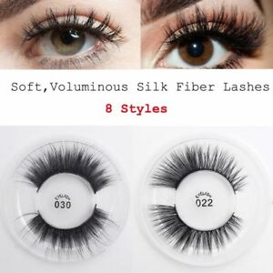 6fd9529d439 1 pair 3D Soft Long False Eyelashes Extension Tools Wispy Cross ...