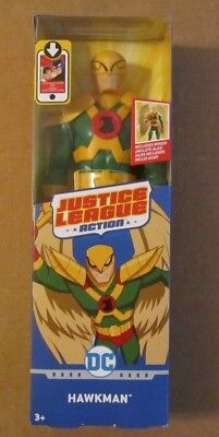DC Justice League Action HAWKMAN ~ 12 inch Articulated Posable Figure ~ NIP