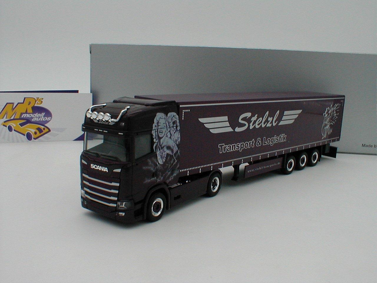 Herpa 932073-SCANIA 932073-SCANIA 932073-SCANIA CS HD gard. - Semi-Remorque Camion  Stelzl Transports  1 87 NEUF 74686d