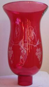 Grapes-Cranberry-Glass-Hurricane-Lamp-Shade-Candle-Chandelier-Light-5-034-x-8-1-4-034