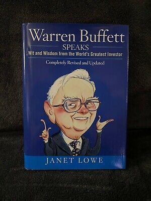 Warren Buffett Speaks Wit And Wisdom From The Worlds Greatest Investor By Janet Lowe