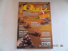 QUAD PASSION MAGAZINE N°30 12/2002 HONDA 600 EX RALLYE RAID KAWA 300 KEF    H38