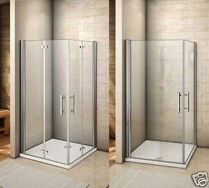 Image is loading Aica-Frameless-Pivot-Hinge-Shower-Enclosure-and-Tray- : cubical door - pezcame.com