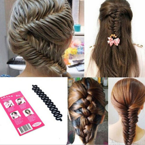 Fish Bone Hair Braiding French Braid Tool Roller Twist Styling Magic Bun-Maker/&