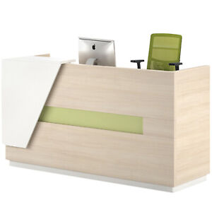New Light Walnut Serena Reception Desk
