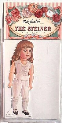 """Vintage Uncut Paper Doll by Peck-Gandre """"The Steiner"""" 1986 French Doll Series"""