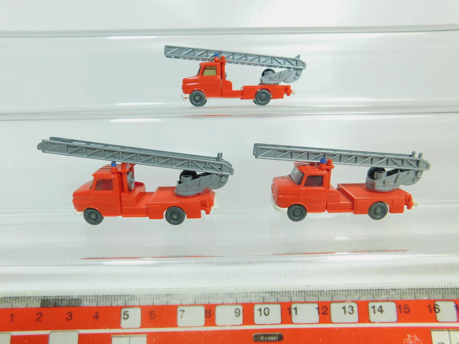BO542-0,5x Wiking H0 1 87 Drehleiter Opel Blitz FW Feuerwehr, sehr gut