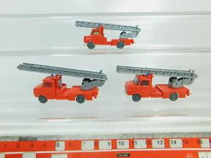 BO542-0-5-3x-Wiking-H0-1-87-Drehleiter-Opel-Blitz-FW-Feuerwehr-sehr-gut