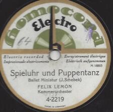 Kammer Orchester Felix Lemon Lemeau1927 : The clock is playing