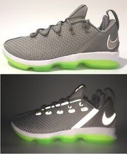 new arrival 88dc0 bd8b8 Image is loading NIKE-LEBRON-XIV-LOW-REFLECTIVE-SILVER-BASKETBALL-SHOES-