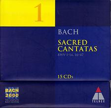 BACH 2000 VOL. 1: SACRED CANTATAS I Geistliche Kantaten. 15 CDs, sehr gut