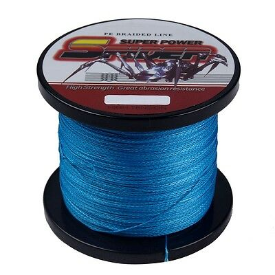 Dyneema Braided Sea Fishing Line 300M Super Spider Strong Blue 50LB/0.36mm