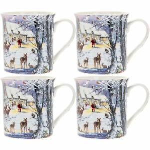 The-Magic-of-Christmas-Set-of-4-Fine-China-Mugs-Gift-Boxed