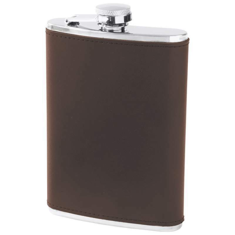 New Wholesale Lot 10 marron Leather Wrap Stainless Steel Hip FLASKS Set 8oz GIFT