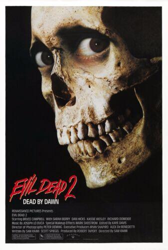 "EVIL DEAD II 2 Movie Fabric Poster 11/""x17/"" Horror Bruce Campbell Sam Raimi Ash"